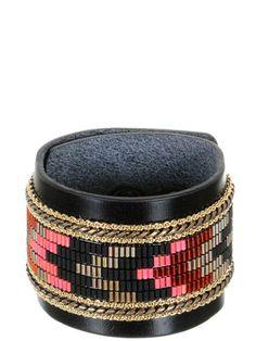 Opale - Bracelet Sioux Cuir O'Hara.