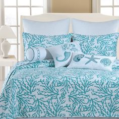 C & F Cora Blue Bedding By C & F Bedding, Comforters, Comforter Sets, Duvets, Bedspreads, Quilts, Sheets, Pillows: The Home Decorating Compa...