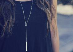 Lariat Bar Necklace - Y Necklace
