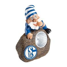 Gartenzwerg mit Spot liegend FC Schalke 04 - #Bundesliga, Fußball, #Soccer, #Fanartikel, #Sport - http://www.multifanshop.de