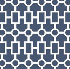 Geometric Chain Crib Sheet in Navy, Print-on-Demand