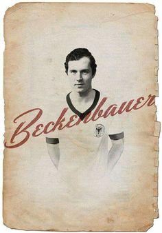 El mejor jugador de todos los tiempos. Beckenbauer!