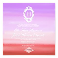 Sunset Watercolor Collection | Wedding Invitation