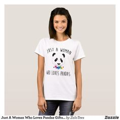 Just A Woman Who Loves Pandas Gifts T-shirt - Fashionable Women's Shirts By Creative Talented Graphic Designers - #shirts #tshirts #fashion #apparel #clothes #clothing #design #designer #fashiondesigner #style #trends #bargain #sale #shopping - Comfy casual and loose fitting long-sleeve heavyweight shirt is stylish and warm addition to anyone's wardrobe - This design is made from 6.0 oz pre-shrunk 100% cotton it wears well on anyone - The garment is double-needle stitched at the bottom and…