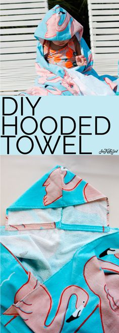 How to Make a Hooded Towel - with template download - see kate sew Sewing Hacks, Sewing Tutorials, Sewing Projects, Sewing Tips, Sewing Ideas, Hood Pattern, Free Pattern Download, Hooded Bath Towels, Straight Stitch