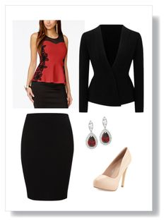 DECA State Look #1 by lizyschulzy on Polyvore featuring polyvore, fashion, style, Thalia Sodi, Roland Mouret, Vila Milano, Charles David, clothing and business