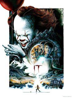 Horror Movie Poster Art : Stephen King's It 2017 by Jeremy Pailler