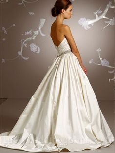 Ivory Silk Faced Satin Bridal Ball Gown Wedding Dress