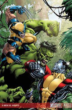 Hulk vs Wolverine & Colossus