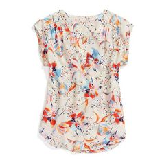 Daniel rainn bettola split neck blouse