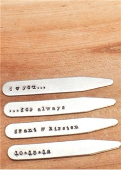 What a unique message. You can engrave #collarStays at Stayclip.com too!