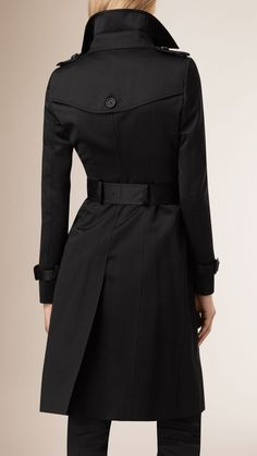Cotton Sateen Trench Coat Black | Burberry £1495