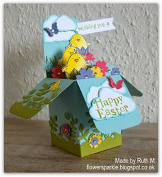 Flower Sparkle: Easter Chicks Card In A Box & A Gift Bag