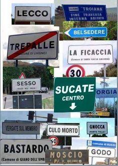 I nomi dei luoghi più strani