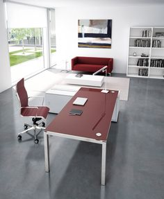 Our Modern Glass Desk Collection Comes In Many Sizes And Configurations Red White Frosted Espresso