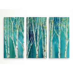 You'll love the 'Birch on Blue' Acrylic Painting Print Multi-Piece Image on Wrapped Canvas at Wayfair - Great Deals on all Décor & Pillows products with Free Shipping on most stuff, even the big stuff.