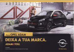 Postal publicitário alusivo ao Opel Adam. Edição Postalfree