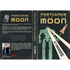 The story centers around a series of actual postcards that come from outer space and the moon. In the book, space travel doesn't have the kind of modern feel that we associate with modern NASA projects. The version of space travel depicted should look like something from the late 1940s or early 1950s. It should be very retro.