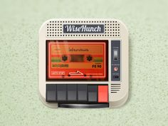 1976 Tape Recorder // William Dalebout // Dribbble