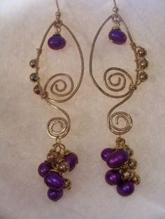 14K Gold Filled Wirewrapped Purple by beadifulexpressions on Etsy, $28.00
