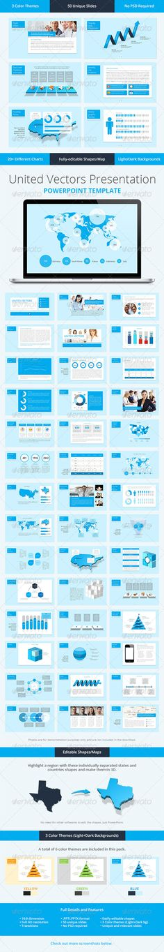 United Vectors PowerPoint Template - Presentation Templates