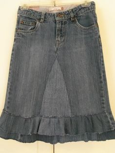up-cycled jean skirt by monique