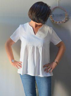 La blouse Cherry Blossom - Joli Lab - 3filles-et-dufil