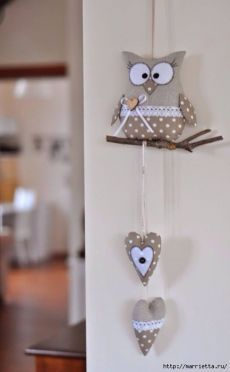 Felt Easy Templates and TutorialsTextile owl do it yourself Pattern owls:Interior toy - a little girl. Owl Sewing, Sewing Toys, Sewing Crafts, Sewing Projects, Fabric Toys, Felt Fabric, Fabric Crafts, Hobbies And Crafts, Diy And Crafts