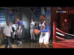 Carmelo Anthony Unveils Wax Figure & Surprises Guests! - YouTube
