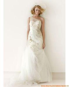 2013 Neue liebste Brautkleider aus Softnetz und Satin Meerjungfrau Herzausschnitt