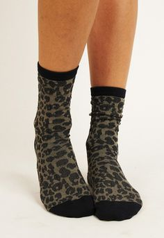 Leopard Crew Sock