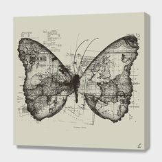 """Butterfly Effect"", Numbered Edition Canvas Print by Tobe Fonseca - From $69.00 - Curioos"