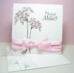 Card using flower soft