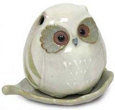 Ceramic Baby Owl Incense Burner