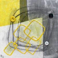 Tranches de vie VI   20 x 20 cm   Techniques mixtes sur toile