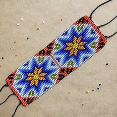 Huichol bracelet beaded bracelet mexican bracelet peyote | Etsy Bracelets For Men, Handmade Bracelets, Tapete Floral, Beaded Jewelry, Beaded Bracelets, Beadwork Designs, Mexican Jewelry, Native Beadwork, Peyote Beading