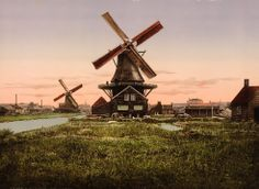 Old Picture of the Day: Holland Windmill
