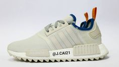 Even though the adidas NMDs JUST dropped, sneaker artists are already taking advantage of the season's hottest sneaker. Adidas Nmds, Adidas Sneakers, Wedding Sneakers, Sneakers N Stuff, Custom Sneakers, Fashion Shoes, Men's Fashion, Shoe Collection, Trainers