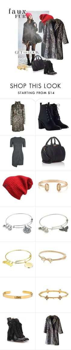 """Faux Fur Coats"" by ivyargmagno ❤ liked on Polyvore featuring Zimmermann, Topshop, Kendra Scott, Alex and Ani, Kate Spade, Ottoman Hands, Freida Rothman, Chloé, Vince and GetTheLook"