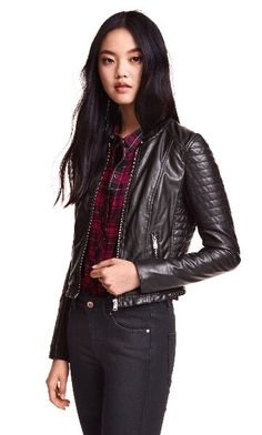 H&M Faux Leather Biker Jacket   Fall 2015
