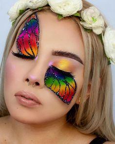 Makeup Eye Looks, Eye Makeup Art, Crazy Makeup, Cute Makeup, Fairy Makeup, Mermaid Makeup, Fairy Fantasy Makeup, Makeup Quiz, Disney Eye Makeup