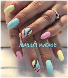 Pastel Mariló Madrid Dope Nails, Pretty Nails, Madrid, Art Ideas, Nail Designs, Nail Polish, Nail Ideas, Cute Nails, Belle Nails