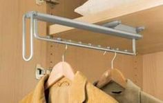 Pull-Out Wardrobe Rail 505 mm preview