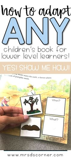 How to adapt any children's book for lower level learners. Promote fluency, comprehension, and a love of learning in all of your students. Learn how. Click now. Blog post how to at Mrs. D's Corner.