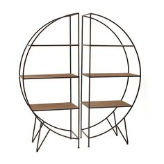 S/2 METAL/WOODEN SHELF 2 Χ(61Χ36Χ147) - Shelves - Bookshelves - FURNITURE