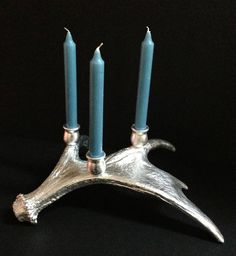 Silver Leaf Candelabra  Moose Antler Shed by CustomAntlers on Etsy,  #hvnyteam
