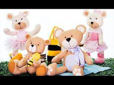 Curso online de Feltro: decoração com ursos   eduK.com.br - YouTube