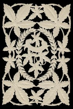 Victorian Paper Lace Leaf and Vine Pattern 100 Year Old Antique Die Cut | eBay