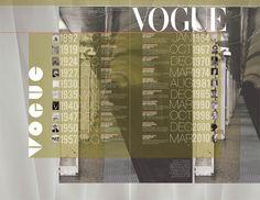 Vogue Interactive Timeline by Sarah E. Deford, via Behance