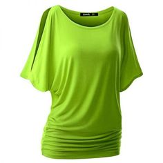 Dolman Sleeve Casual Loose Top Cotton Candy Color T-Shirt. Available in 10 different colors.  #loosetop #splitsleeve #top #plentyoffashion